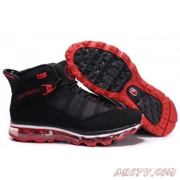 Air Jordan Femme Nike Air Jordan Six-Max Fusion 2011 Sneakers Noire Varsity  Rouge