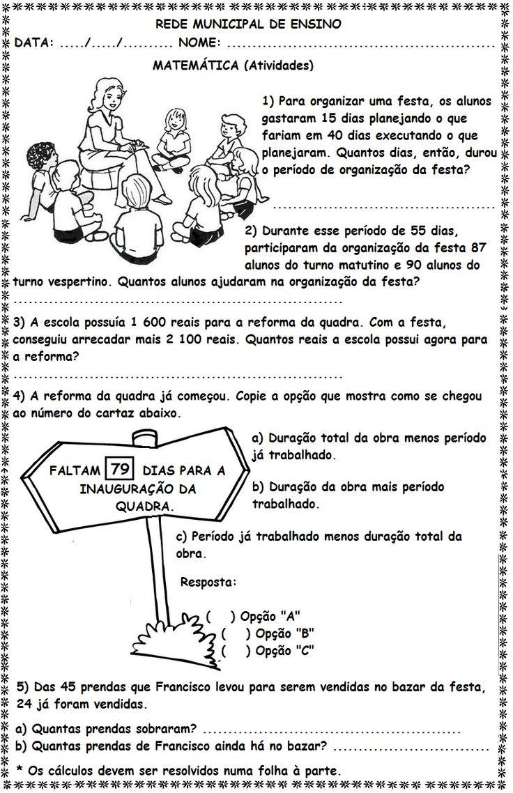 Blog Educacional (Profª. Jezaine): Adição e Subtração 4º Ano