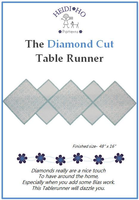 This tablerunner really is a cut above the rest. It looks a gem on any table.