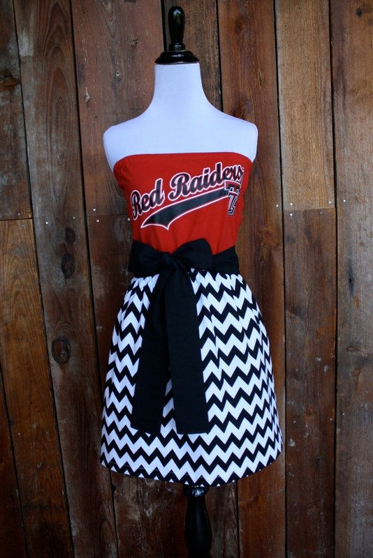 Texas Tech Red Raiders Strapless Game Day Dress  by jillbenimble