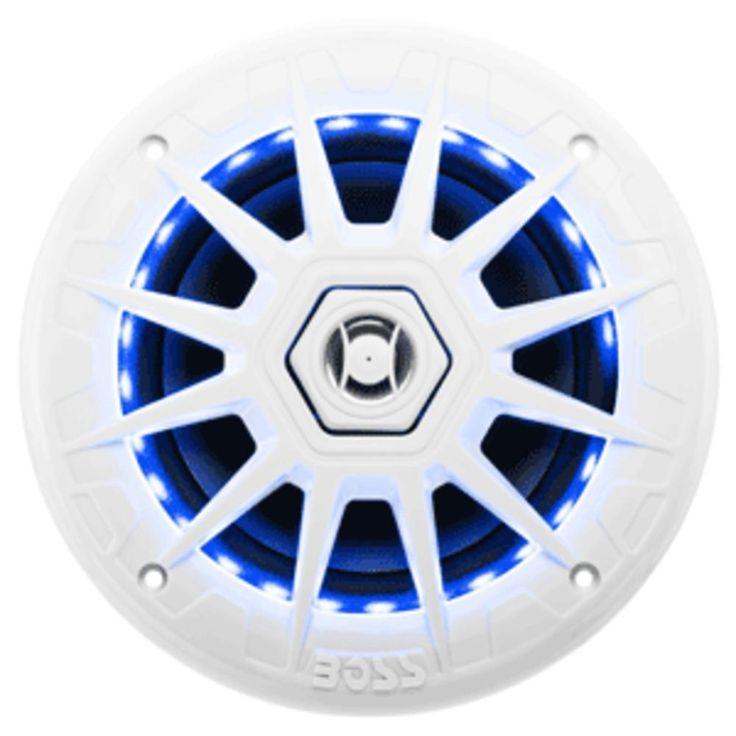 Boss Audio MRGB65 Coaxial Marine Speaker w-RGB LED Lights - 6.5