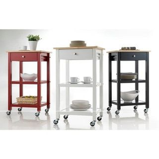 Shop for Wood Kitchen Cart on Wheels. Get free shipping at Overstock.com - Your Online Kitchen