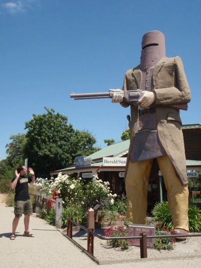 The Big Ned Kelly at Glenrowan