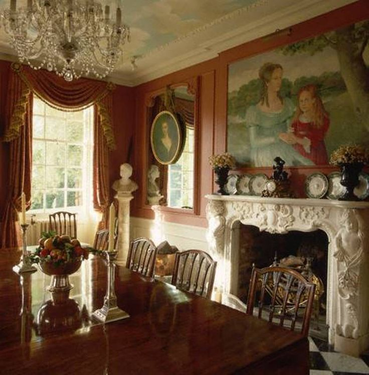 Captivating Dining Room , Elegant Victorian Style Dining Room : Victorian Style Dining  Room With Wooden Dining Table And Chairs And Chandelabra And Chandelier And  ... Part 32