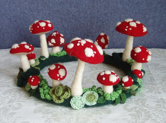 Muscaria Fairy Ring Centerpiece