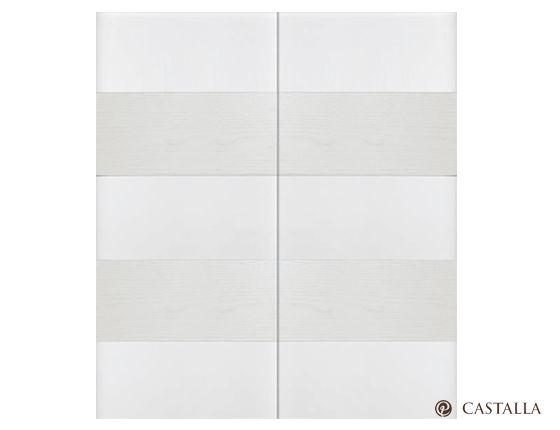 Armario Vael. Serie Imagin. Apertura de armario corredera exterior. Acabado Lacado Blanco Alto Brillo - Tinte 2200