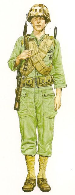 MARINE.-  U.S. Marine Corps ,Inchon 1950. 1st Marine Division, Korean War.