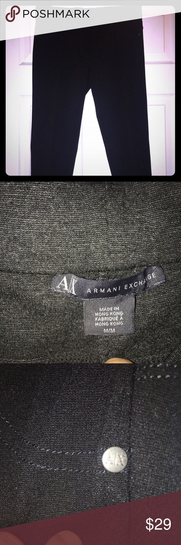 ARMANI EXCHANGE LEGGINGS! Perfect fit! Structure lined down to ankle/  with A/X logo on pockets in back and side of pants! Great fit! Perfect shaping/slimming even! I bought .. QUALITY IS KEY! A/X Armani Exchange Pants Leggings