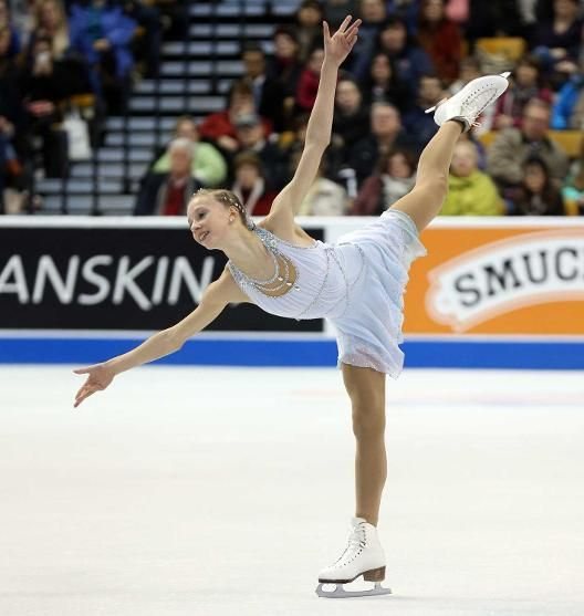 Our Skating friend Polina Edmunds wearing Harlick skating boots. Placed 2nd at the 2014 Nationals.
