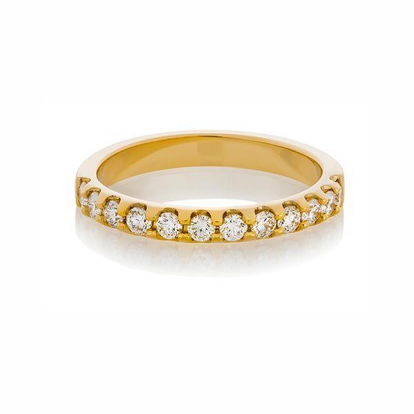Yellow gold diamond ring - Stones Diamonds