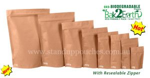 Our High barrier properties of #BrownPaper #StandUpPouches heighten the capability of preserving products packaged for longer periods of time .