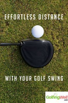 Want more distance on your golf drives and long shots? Check out these golf swing tips to help you hit the golf ball longer. #golf #golfswingtips