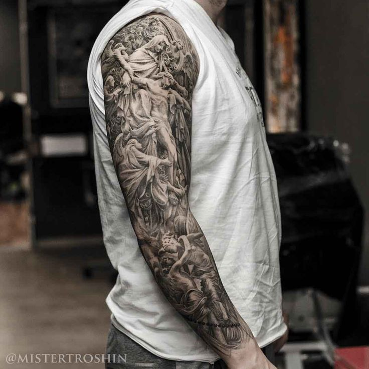 Religious Sleeve Tattoo