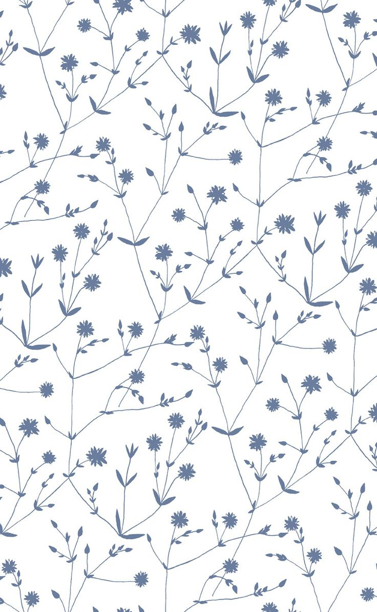 Illalla Wallpaper Cream/Indigo