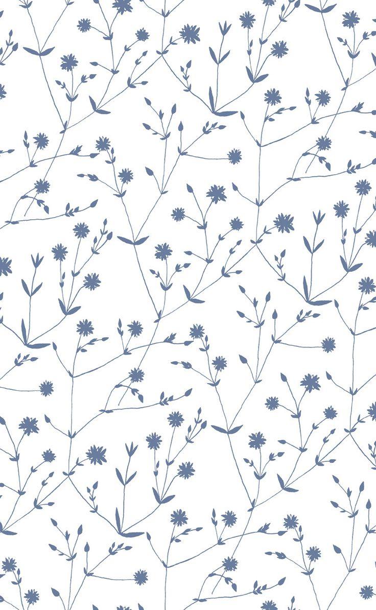 Illalla Wallpaper Cream/Indigo