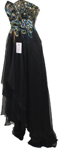Online Sales eXperts (USA) - OSX128.COM: Apparel: Meier Women's Strapless Peacock Embroidery Chiffon Gown