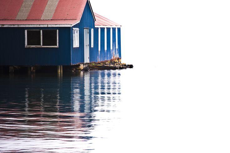 Boatshed at Port Chalmers By Vineet Rajasekhar