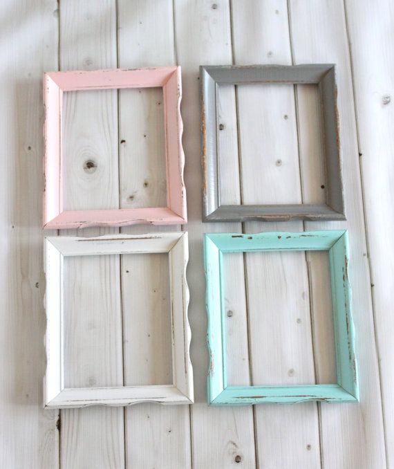 Rustic Shabby Chic Frame Wood Frame, Wedding Baby Nursery, Picture Frames 8x10, ONE you pick the color on Etsy, $35.00
