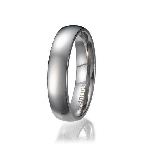 La bande anneau de titane / de mariage de 8mm hommes avec incrustation de fibre de carbone: Une belle bague en titane 8mm directement de…