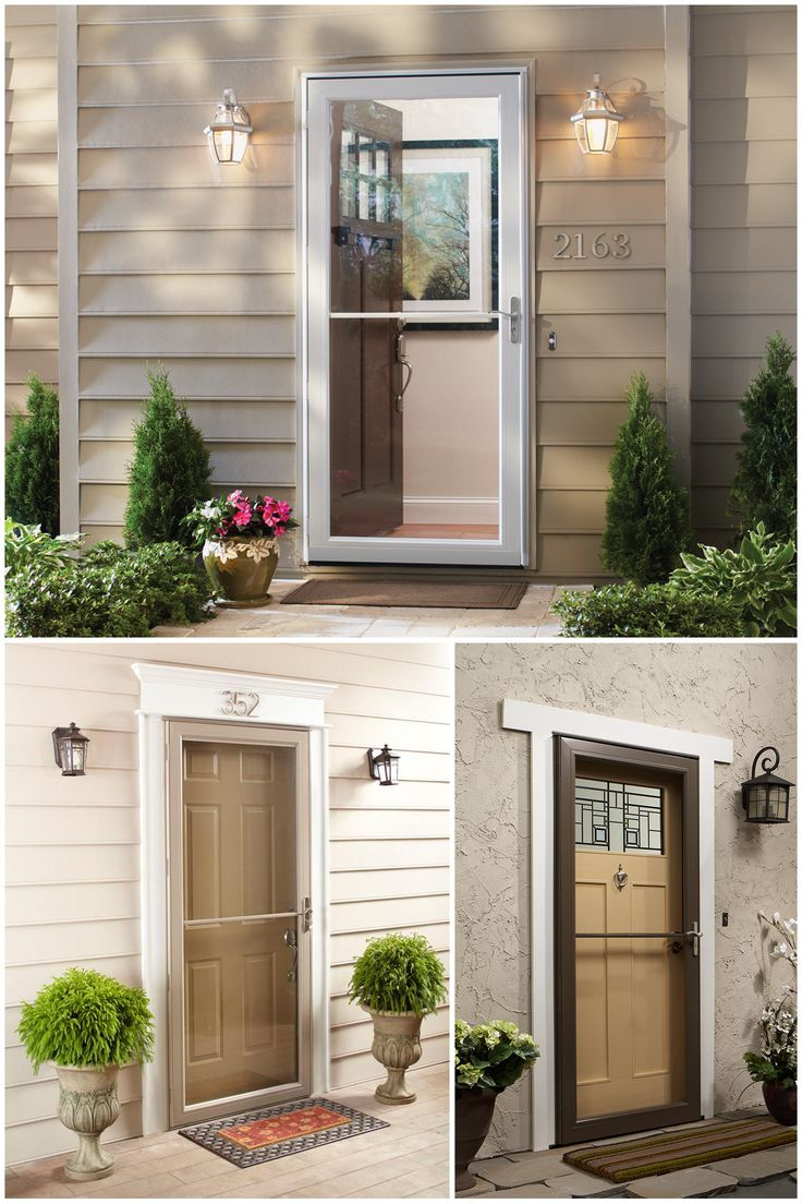 A storm door can help save on your energy bills. If you coordinate with your home's exterior color, it can add curb appeal, too. Click through to see The Home Depot's many storm door colors and options, including easy-install and low-maintenance features.