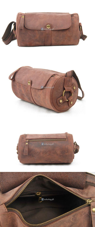 Brown Leather Shoulder Bag Women Handbag (4)