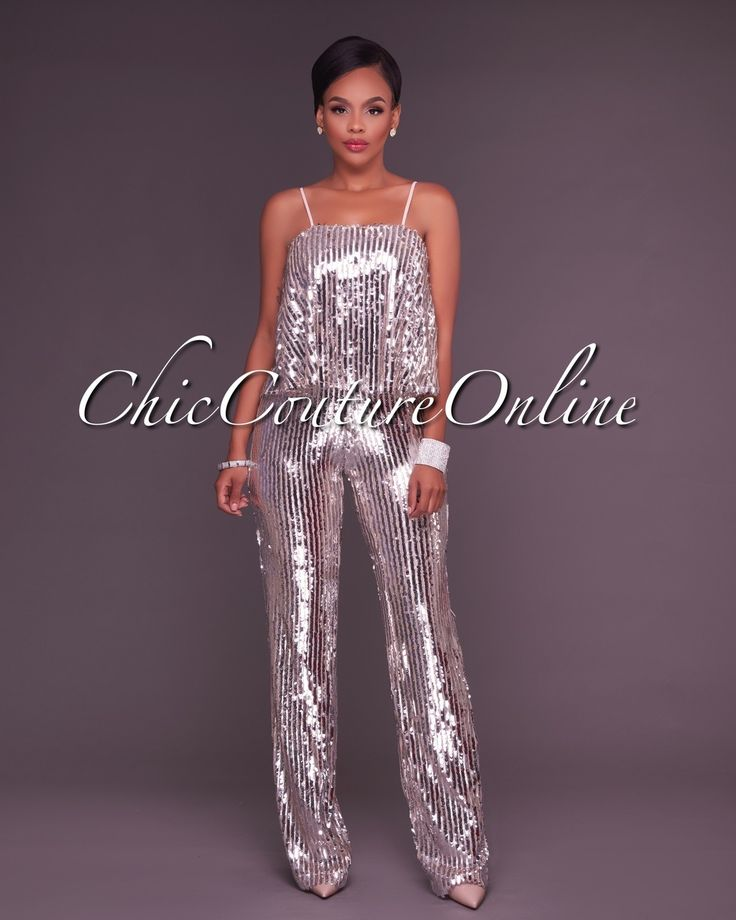 Chic Couture Online - Roshan Rose Silver Sequined Jumpsuit,  (http://www.chiccoutureonline.com/roshan-rose-silver-sequined-jumpsuit/)
