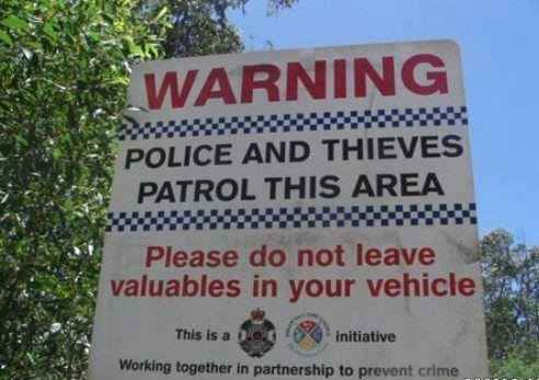 The Police Warning. | 47 Signs You'll Only See In Australia