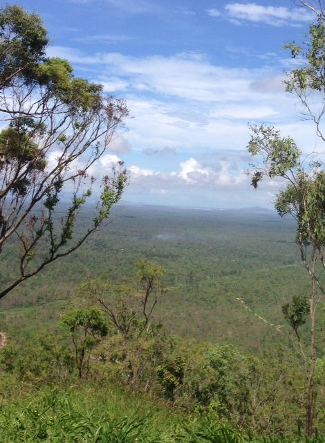 The view from Herveys Range towards Townsville, North Queensland