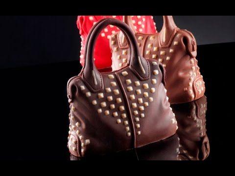 Sac avec Clous - moule a chocolate de Sac avec Clous, Moule professionnel en silicone en forme de Sac avec Clous, ornament en 3D à sucre ou au chocolat pour gâteaux