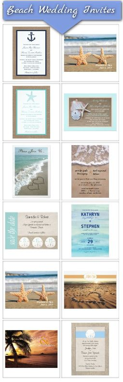 Beach Wedding Invitation ideas