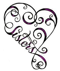 Image result for small sister heart tattoo