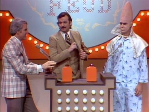 Steve Martin, Bill Murray Dan Ackroyd doing the Family Feud sketch on 'Saturday Night Live' in the 70's