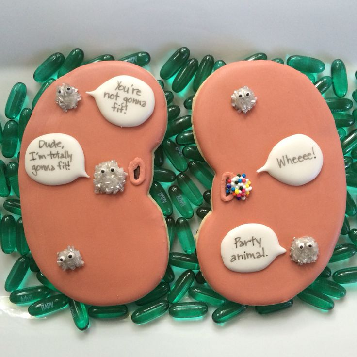 Kidney stone humor cookies! These were get well cookies, but they would be funny for medical, nurse, or doctor cookies.