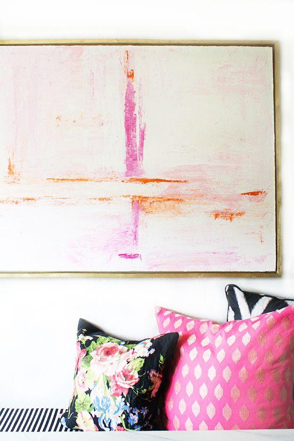 diy, canvas, framed, art, crane concept, blog