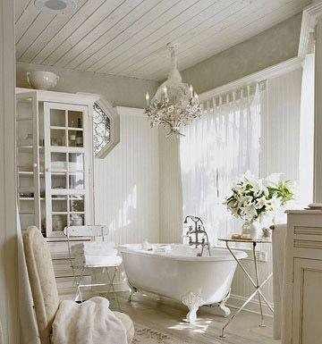 beautiful white bath