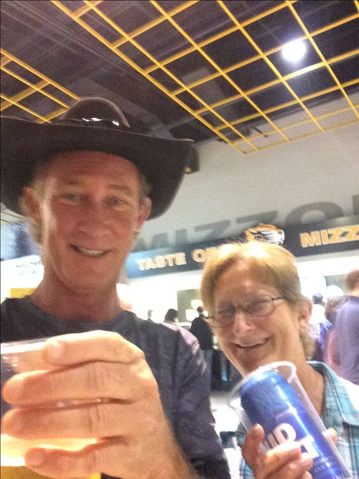 Mom and I having a cold beer at Chris Stapleton concert at Mizzou Arena April 27, 2017. Good Times