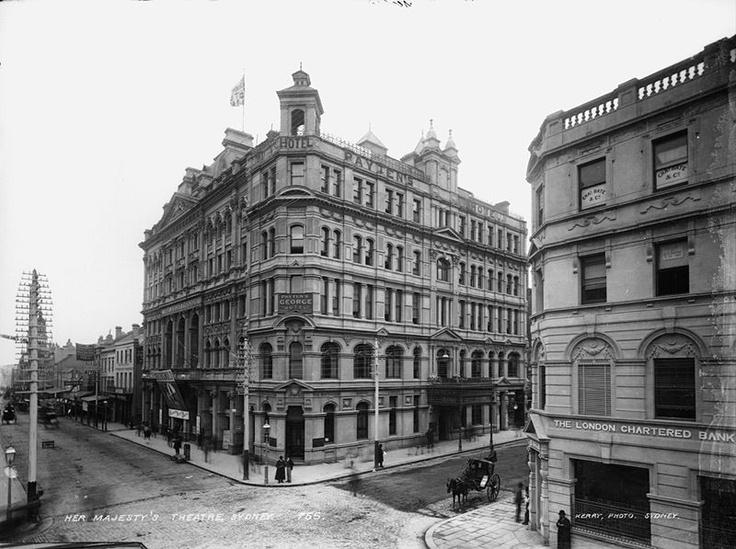Original Her Majestys Theatre Sydney designed by William Pitt c1900