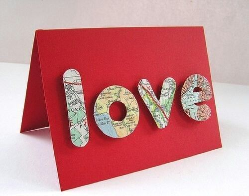 Подарок любимому человеку.  На буквах расположите фрагменты карт, где произошли самые яркие моменты Вашей любви. Знакомство, первый поцелуй, признание в любви ...