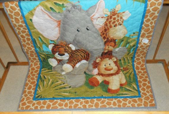 Zoo Animals Baby Quilt Baby Blanket Unique Gifts