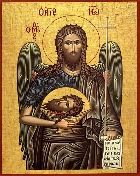 Unknown iconographer, Saint John The Forerunner, Prophet and Baptizer of Christ icon