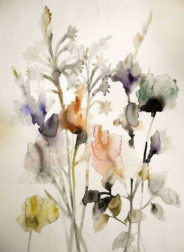 Lourdes Sanchez, Tuberose, Gladiolas and Rose 2 2014, watercolor
