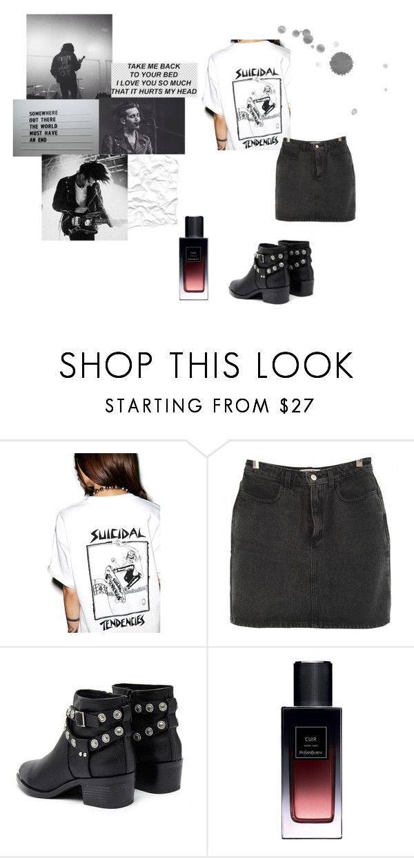 """Untitled #44"" by socolourfulyetsounawareofit ❤ liked on Polyvore featuring Suicidal Tendencies, American Apparel, Senso, Yves Saint Laurent and vintage"