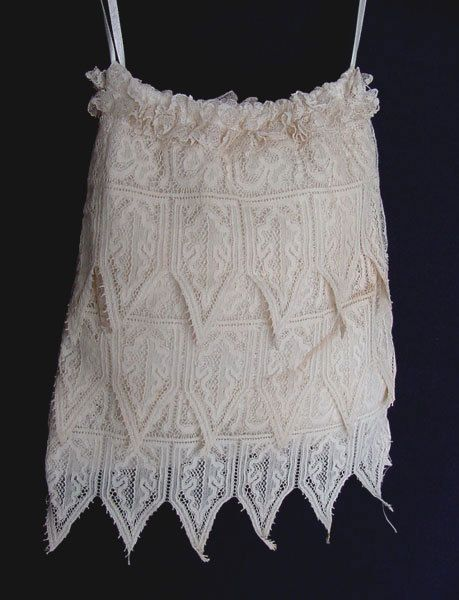 Antique Ivory Lace Boudoir Bag with Drawstring Tie by chalcroft, $34.95