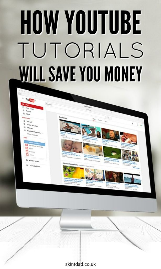 Instead of paying someone else, there are loads of different things you can do at home to save cash with the help of YouTube tutorials.