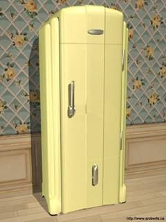 Vintage Refrigerator -- I know this is a Fridge, but it's an ART DECO fridge -- how cool!