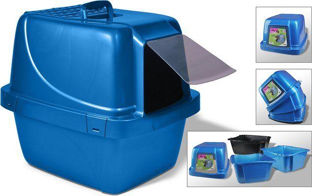 Van Ness Enclosed Sifting Cat Litter Pan Giant Blue Chewy Com Cat Litter Pan Cat Litter Box Cat Litter
