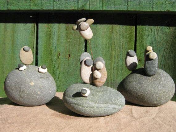 presépios com pedras - Pesquisa Google