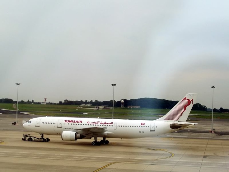 Tunisair A300 in Brussels.