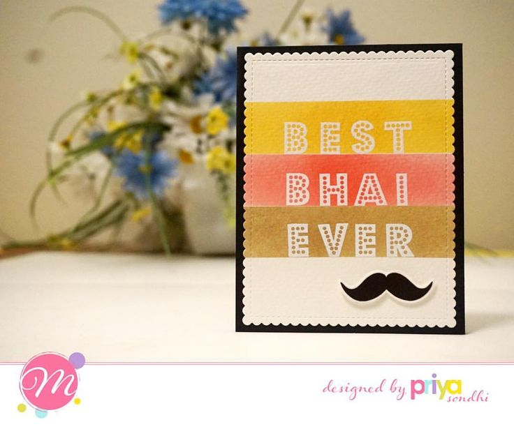 """63 Likes, 5 Comments - Priya-n-papers (@priyanpapers) on Instagram: """"Mudra July Release DT inspiration - Card 4 - Made Raksha Bandhan cards using Decorative Alphas…"""""""