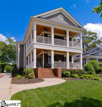 Charleston style homes in greenville sc